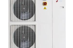 Tepelné čerpadlo ENBRA i-HWAK (monoblok) je úsporný zdroj tepla smožností chlazení ařízeného odvlhčování (ve spojení sfan-coily). Díky plynule řízenému výkonu kompresoru, oběhového čerpadla aventilátorů (3x DC invertor) dosahuje energetické třídy A++, výstup pro hlášení poruchy, možnost vzdáleného přístupu přes internet (sregulátorem Hi-T), technické parametry certifikovány nezávislou autorizovanou zkušebnou Eurovent. Vývoj ivýroba vEU. FOTO ENBRA