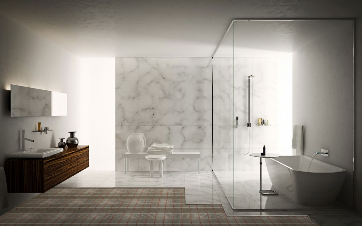 ECOFLOOR v koupelne vizualizace