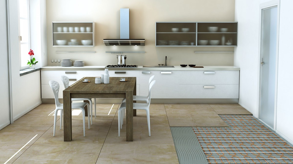ECOFLOOR v kuchyni vizualizace