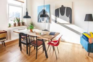 Přehlídka vkusných a odvážných řešení v malém pražském bytě