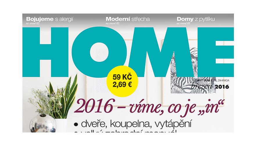 Nové číslo časopisu HOME 03/2016 v prodeji