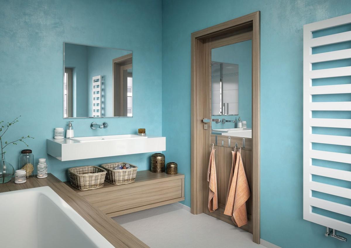 3 v1. Dveře Vertigo Variant jsou příkladem toho, že dveře nemusí sloužit pouze koddělení jednotlivých místností. Můžete je nechat vybavit výklopnými háčky nebo využít část plochy dveřního křídla například jako zrcadlo. Takové provedení oceníte všatně, koupelně či vpokoji dospívajících. FOTO SOLODOOR