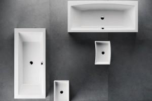 Formy, to je zbrusu nový koupelnový koncept od Ravaku, který vsobě zahrnuje dvě provedení vany aumyvadla. Formy 01 aFormy 02 se od sebe liší jemně pozměněnými tvary, které lze případně ivzájemně kombinovat. Vany jsou vyrobeny zlitého akrylátu, umyvadla pak zkvalitního kompozitu. FOTO RAVAK