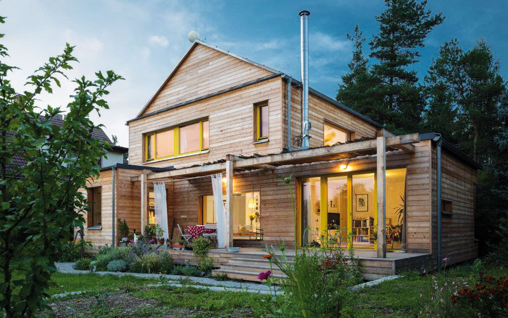 Rodinný dům A3E postavený zpanelů NOVATOP. FOTO A3E