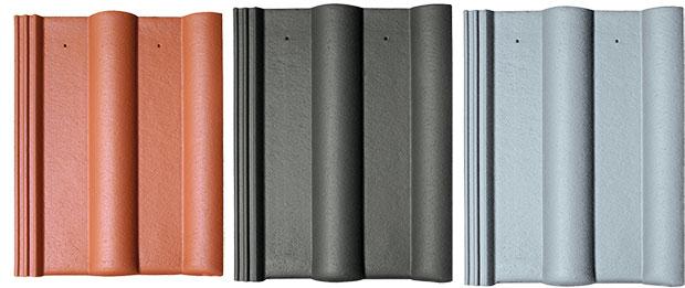KMB BETA je betonová střešní krytina scharakteristickým profilem. Díky svým estetickým afunkčním vlastnostem se stala nejžádanější anejpoužívanější taškou na trhu. Každý ze sedmi nabízených odstínů lze dodat vsedmi barevných odstínech ve čtyřech variantách povrchových úprav: Briliant (lesklý vzhled), Elegant (matný vzhled), dále Efekt (kombinace dvou odstínů – višňové ačerné) anakonec Standard, probarvený beton bez povrchové úpravy. Životnost krytiny se odhaduje na 100 let, proto na ni KM Beta poskytuje záruku až 30 let. Krytina je použitelná pro spády střechy od 12° až do 90° ve všech klimatických oblastech ČR. FOTO KM BETA
