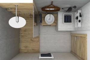 Půdorys skandinávské koupelny. Více stylů, řešení a produktových tipů najdete na následující dvoustraně, a také na stránkách www.perfecto.cz/koupelnove-studio. FOTO PERFECTO DESIGN