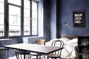 Spací koutek je útulně vklíněn mezi vnější stěnu a polopříčku. FOTO INT2ARCHITECTURE