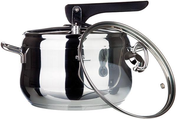 Banquet 23110AL5 Allegro, tlakový hrnec znerezové oceli sextra skleněnou poklicí, objem 5 l, vhodný na všechny varné desky včetně indukce, od 659 Kč