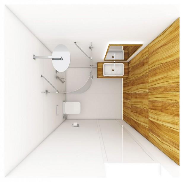 Koupelna Guest vznikala pro rodinný dům. Půdorysná plocha činí 3,53 m2. Autory návrhu jsou Jozef Počil a Martina Šimková ze studia Perfecto design. FOTO PERFECTO DESIGN