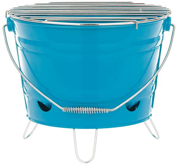 Butlers BBQ, přenosný gril-kbelík, samostatný kontejner na dřevěné uhlí, větrací otvory pro optimální cirkulaci vzduchu, průměr roštu 27 cm, 449 Kč