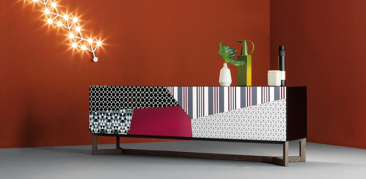 Eklektický design vpodání luxusní značky Bonaldo. Skříňka Doppler, design Giuseppe Vigano. FOTO BONALDO
