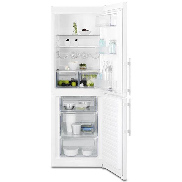 Electrolux EN3201MOW, chladnička kombinovaná smrazákem, energetická třída A++, nízká spotřeba, špičkový výkon, stojan na lahve, LED osvětlení, 9 450 Kč