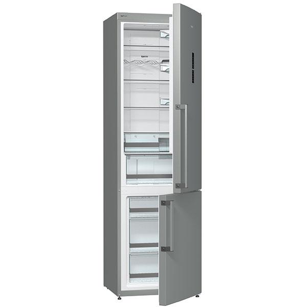 Gorenje NRK6203TX, chladnička kombinovaná s mrazákem, energetická třída A+++, technologie IonAir, větrací systém Multi Flow 360°, ocenění D Testu, 22 990 Kč