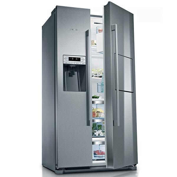 Bosch KAG90AI20, americká side-by-side kombinace s domácím barem, energetická třídy A+, dávkovač studené vody a výrobník ledu, Multi Air Flow, 48 990 Kč