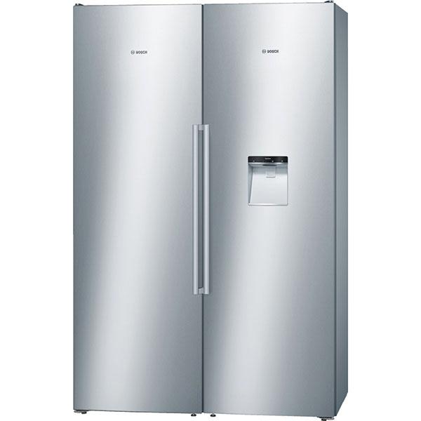 Bosch KAD99PI25, extrémně objemná dvoudveřová evropská chladnička smrazákem, energetická třída A+, BigBox pro nadměrné potraviny, 79 990 Kč