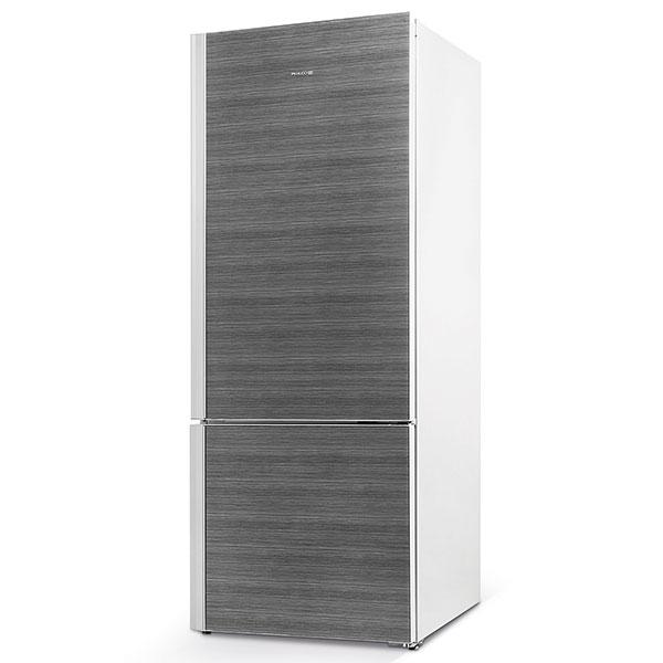 Philco PC 455 Adora, chladnička kombinovaná smrazákem, energetická třída A++, HC systém – dvojitý termostat, NoFrost, skleněné dveře sdekorem dřeva, 27 990 Kč