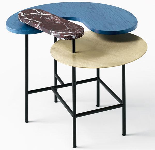 Jako šperk. O dotvoření a oživení jednolitého interiéru se postará výrazný a elegantní design stolu Palette značky AndTradition. Na www.danishdesignstore.com najdete několik jeho barevných a tvarových variací.
