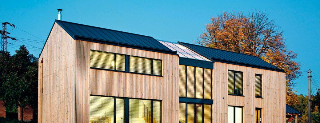 Dřevostavba ve Frýdštejně v nízkoenergertickém standardu budí obdiv