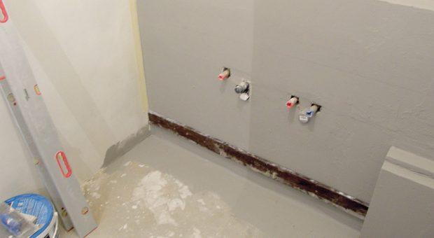 Rekonstrukce koupelny: Příprava na obklad