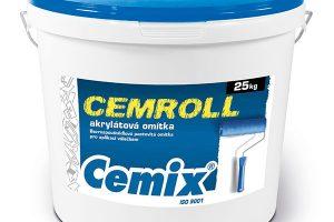 Pastovitá omítka Cemix CEMROLL akrylát v hotovém balení. zdroj: LB Cemix