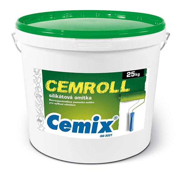 Pastovitá omítka Cemix CEMROLL silikát se vyznačuje vyššími hodnotami paropropustnosti. zdroj: LB Cemix
