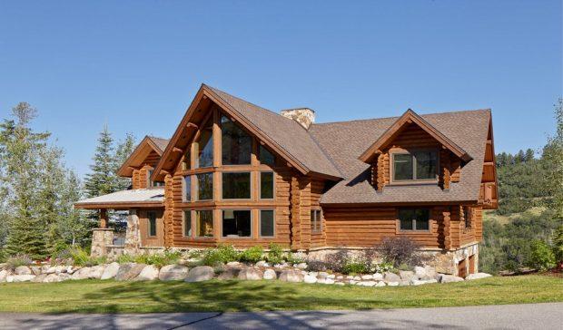 exterior-modern-log-cabin