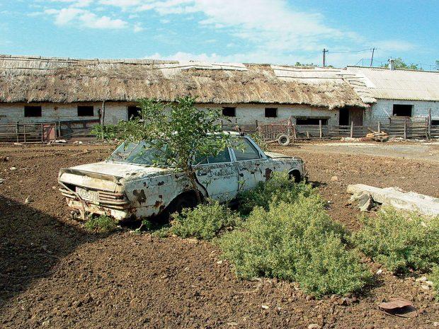 Původní stav zemědělských budov před zahájením rekonstrukce. FOTO TOMÁŠ RASL