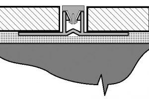 Detail umístění dilatačního profilu mezi obkladačky.