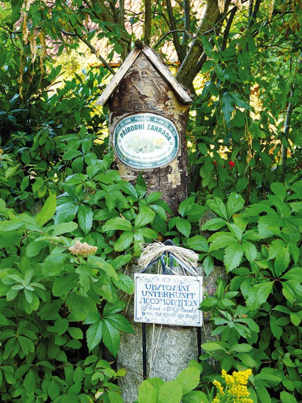 Před několika lety si zahrada vysloužila plaketu Ukázková přírodní zahrada. Ovšem aby se tak stalo, museli majitelé splnit celou řadu podmínek, například hospodaření bez použití chemie. FOTO LUCIE PEUKERTOVÁ
