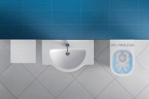 Závěsný klozet JIKA Mio Rimless nabízí nový design společně s novou technologií Rimless. Systém Dual Flush a důmyslná konstrukce klozetu navíc umožňují významně šetřit vodou. foto Laufen