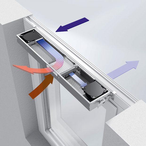 Automatická ventilační jednotka s rekuperací Schüco VentoTherm