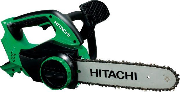 Řetězová pila aku Hitachi CS36DLTL, akumulátorem poháněná pila, délka meče 30 cm, hmotnost včetně akumulátoru: 4,4 kg, napětí akumulátoru: 36 V, prodává Hornbach, cena 9900 Kč