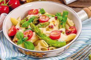 Chřest v kombinaci se sýry, mořskými plody nebo jako součást salátů
