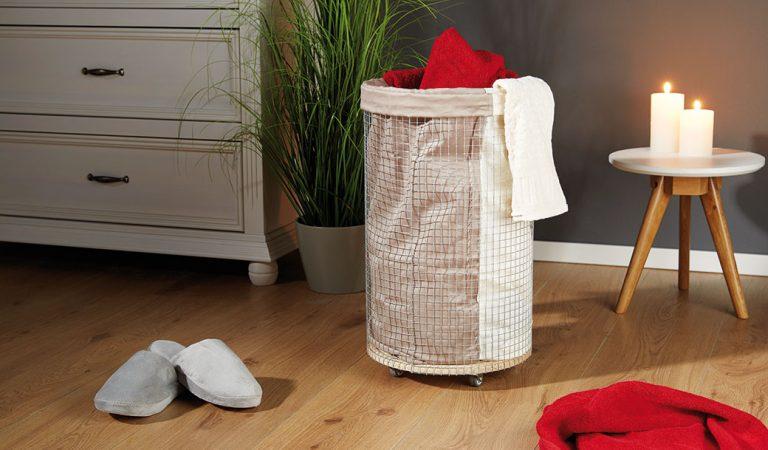 Vyrobte si koš na prádlo