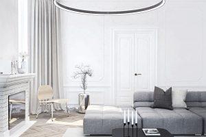 Svítidlo Halla zrodiny INDI, jejichž autorem je Matúš Opálka, tvoří hliníkový profil osazený LED boardy. Svítidlo vyniká měkkým světlem ajeho intenzitu lze ovládat. Konceptu INDI byla udělena cena Red Dot Design Award 2014 vkategorii Design Concept, iF Design Award 2016 či German Design Award Special mention 2016. Foto Halla