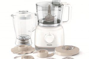 Kuchyňský robot Philips Daily Collection HR7628/00, příslušenství pro více než 25 funkcí, mísa oobjemu 2,1 l, nádoba mixéru oobjemu 1, 75 l, šlehání šlehačky, vajec, příprava těsta na pečivo achlebového těsta atd., 1 999 Kč.