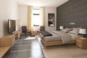 Přízemní bungalov velmi efektivně vytápí elektrické podlahové topení