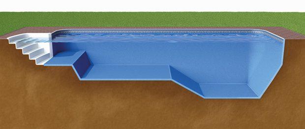 Design-kompozitní bazény Métropole – šířky, délky ahloubky se dají modelovat na přání. FOTO MOUNTFIELD