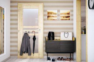 Robustní otočné interiérové dveře řady Vertigo mají pevnou astabilní rámovou konstrukci. Dostupné jsou vmnoha variantách skladby kazet aprosklení adisponují vysokou odolností povrchu. Tam, kde je potřeba ušetřit prostor, můžete dveře instalovat jako posuvné. Foto SOLODOOR