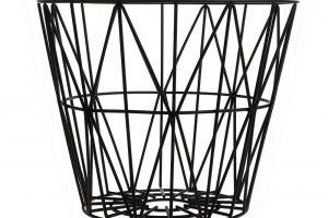 Kovový koš Wire Basket od Ferm Living, výška 40 cm, průměr 50 cm, lakovaná ocel, www.designville.cz, 1 980 Kč.