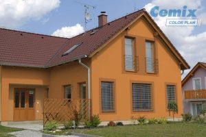 Okrové fasády patří u zákazníků mezi nejoblíbenější. zdroj LB Cemix, s.r.o.