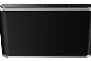 Bezdrátový reproduktor Panasonic SC-ALL9, dotykový reproduktor, 6 tlačítek knavolení hudby, 5 menších reproduktorů, digitální zesilovač, přehrává prostřednictvím Bluetooth awi-fi, možnost upevnění na stěnu, systém ALL pro poslech ve více místnostech zároveň, 9 499 Kč.