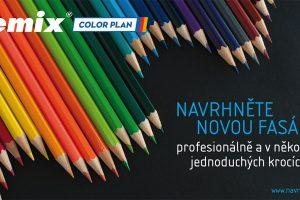 COLOR PLAN pracuje s jedinečným vzorníkem barev Cemix duhově krásný. zdroj LB Cemix, s.r.o.