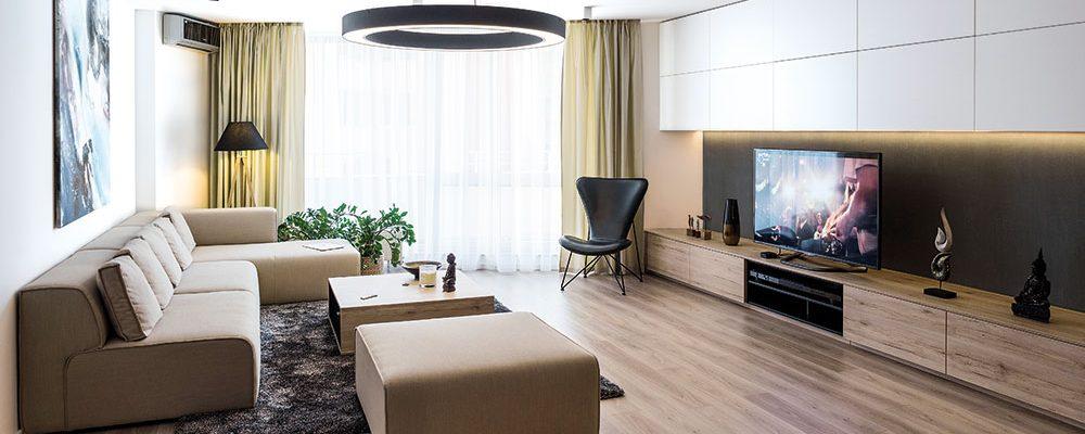 Zrekonstruovaný byt ve znamení minimalismu a čistých linií