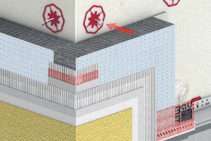 Systém Baumit open tvoří komplet systémových komponent pro odpovídající funkci a dobrý vzhled. Zahrnuje nejen teplenou izolaci, ale také kotvicí prvky a omítku s nanotechnologií. Přispívá tak výrazně k delší životnosti budovy. Propouští vodní páry a zabraňuje tak jejich kondenzaci. Zkracuje také délku stavby, protože umožňuje rychlejší vysychání konstrukce. FOTO BAUMIT