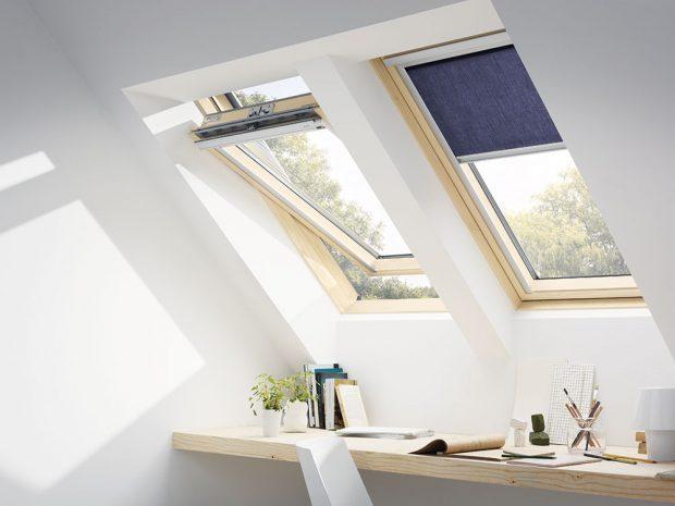 Dřevěná okna mají oproti plastovým výhodu tvarové stálosti při extrémních teplotních výkyvech. FOTO VELUX
