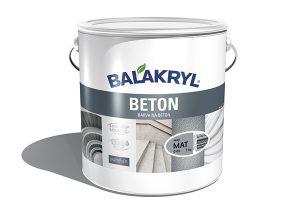 Barva BALAKRYL BETON je určena kochranným nátěrům betonových zdí, konstrukcí, panelů astěn vinteriéru, ale isvislých betonových ploch vexteriéru. Vytváří paropropustný povrch, který je možné omývat, avšak nesnese trvale mokré prostředí.
