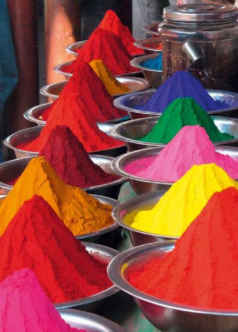 Barevné pigmenty, které tvoří výsledné zabarvení betonu. zdroj: Českomoravský beton