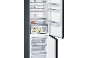 Siemens iQ 300, KG39NXB4B, chladnička amraznička, energetická účinnost A+++, technologie noFrost, regulace vlhkosti, šířka 60 cm, výška 203 cm, hloubka 66 cm, volitelný závěs dveří, supermrazení, superchlazení, přihrádka hyperfresh pro déle čerstvé ovoce azeleninu, 32 490 Kč.