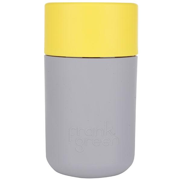 SmartCup, šedý se žlutým víčkem, od Frank Green, 340 ml, 579 Kč, www.zoot.cz